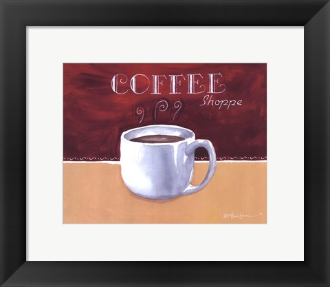 Framed Coffee Shoppe Print