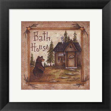 Framed Bath House Print