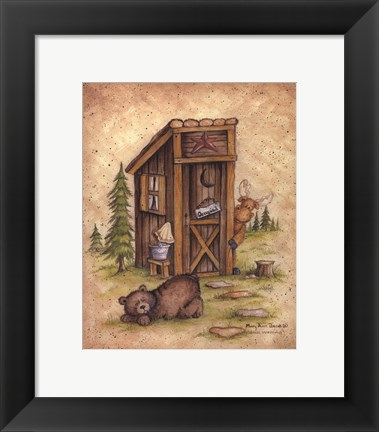 Framed Still Waiting Print