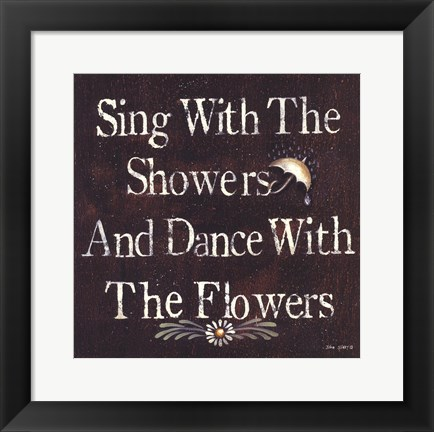 Framed Showers and Flowers Print