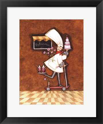 Framed Patisserie Chef Print