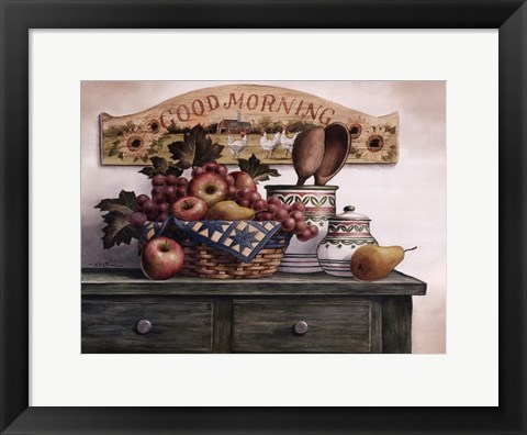 Framed Good Morning Plaque Print