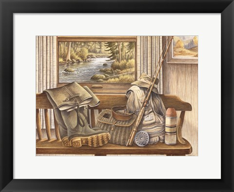Framed Fishing Gear Print