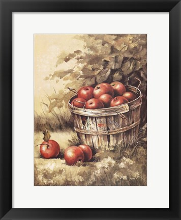 Framed Barrel Apples Print