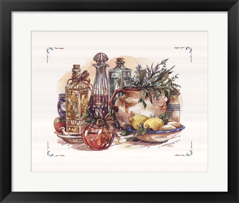 Framed Spiced Oil and Vinegar Collection I Print