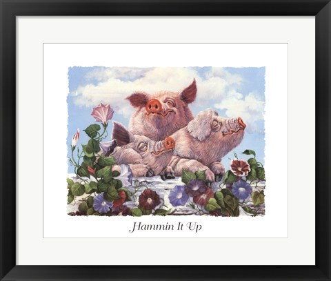 Framed Hammin It Up Print