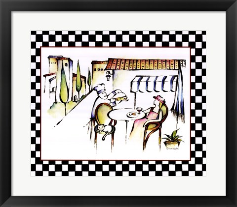 Framed Chef with Entree Print