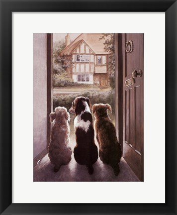 Framed Waiting Patiently Print