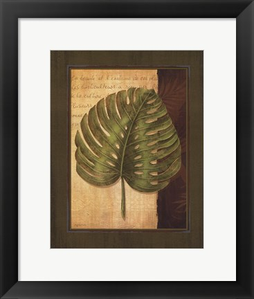 Framed Palm Tropical IV Print