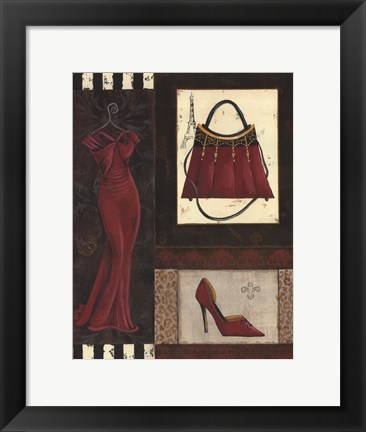 Framed Fashion Collage I - mini Print
