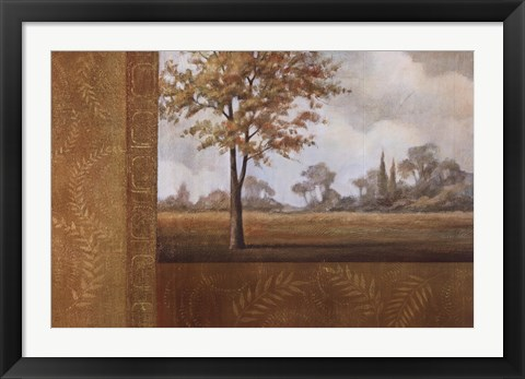 Framed Golden Autumn I Print