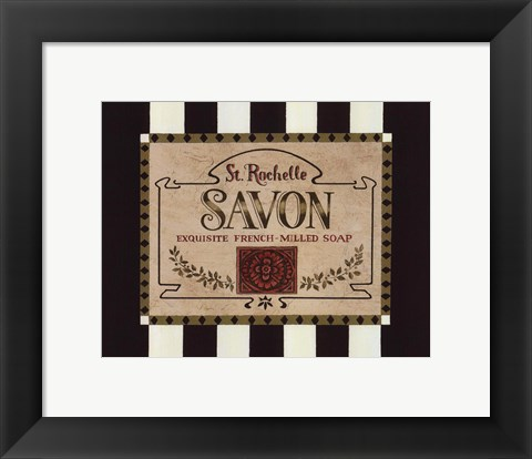 Framed Soap Label Print