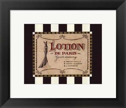 Framed Lotion Label Print
