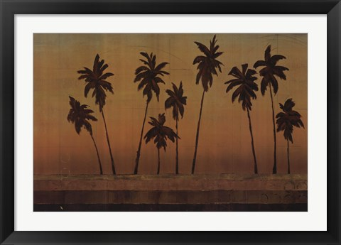 Framed Sunset Palms II - CS Print
