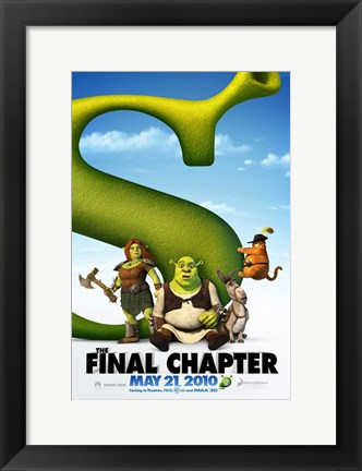 Framed Shrek Forever After - style C Print