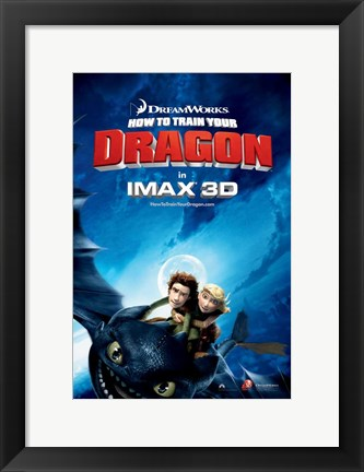 Framed How to Train Your Dragon - style C Print