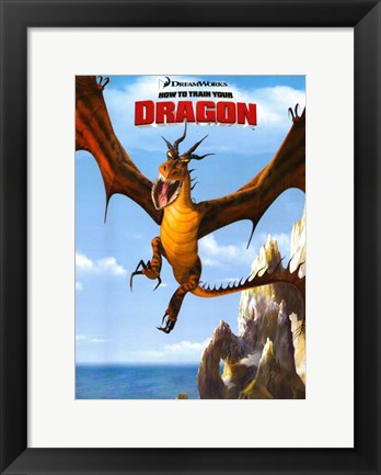 Framed How to Train Your Dragon - style D Print