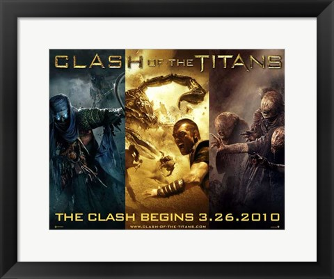 Framed Clash of the Titans, c.2010 - style A Print