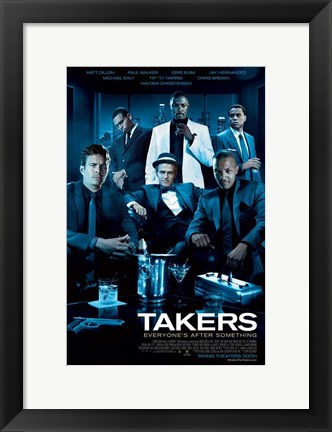 Framed Takers - style A Print