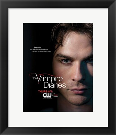 Framed Vampire Diaries - style H Print