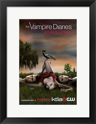 Framed Vampire Diaries - style A Print