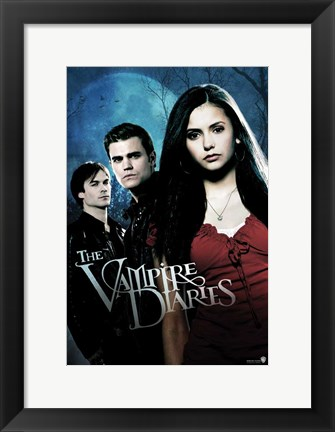 Framed Vampire Diaries - style F Print