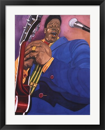 Framed Jazz in New York Print