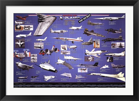 Framed American Aviation - X-Planes Print