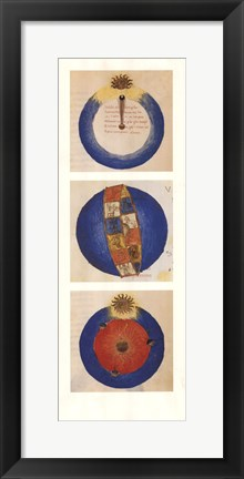 Framed Abstract Circles II, (The Vatican Collection) Print