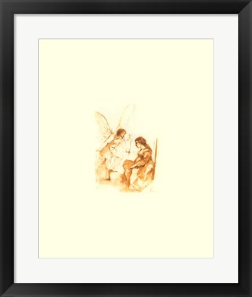 Framed Angel of Annunciation Print