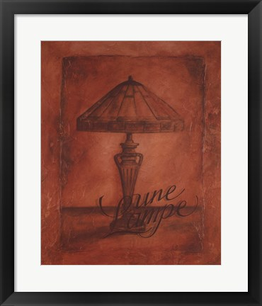Framed Une Lampe Print