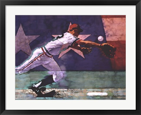 Framed Olympic Baseball Print