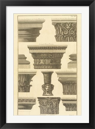 Framed Vari Capitelli, (The Vatican Collection) Print