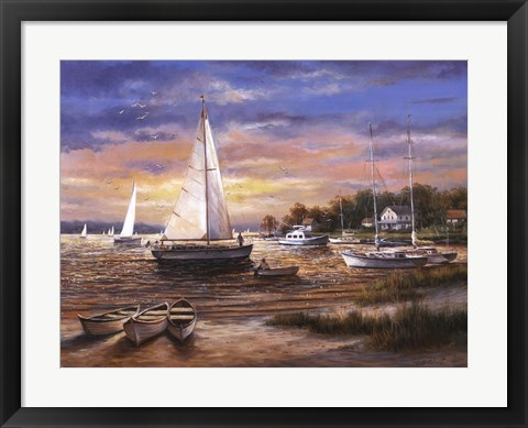 Framed Morning Sail Print