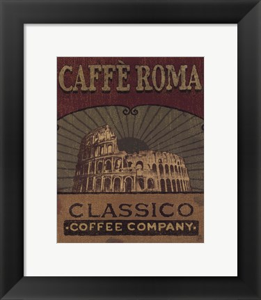 Framed Coffee Blend Label I Print