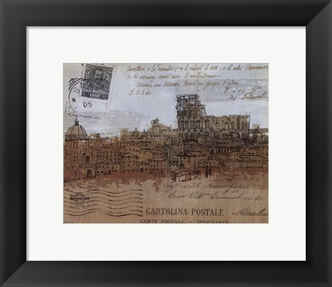 Framed Cities IV - Rome Print