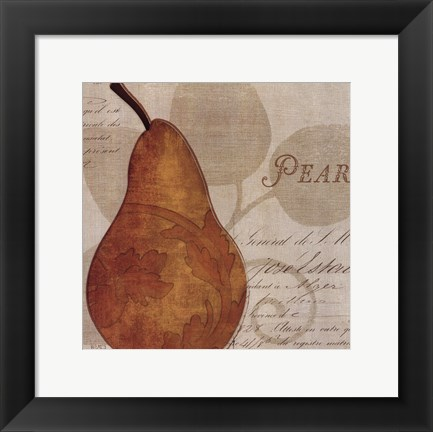 Framed Royal Fruit I Print
