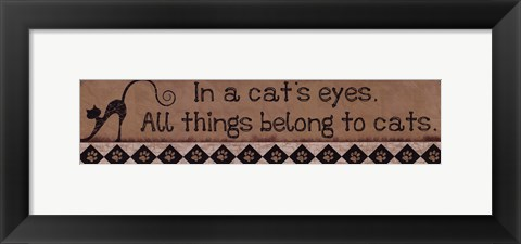 Framed In a Cat's Eyes Print