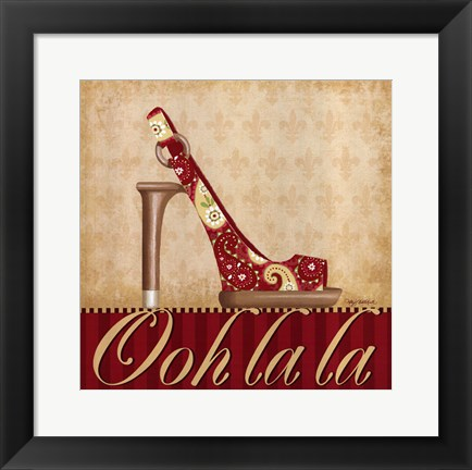 Framed Ooh La La Shoe I Print