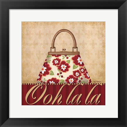 Framed Ooh La La Purse I Print