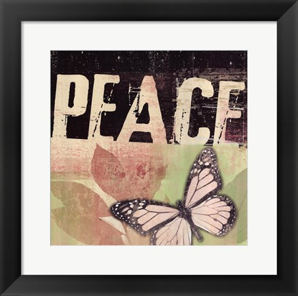 Framed Peace - Butterfly Print