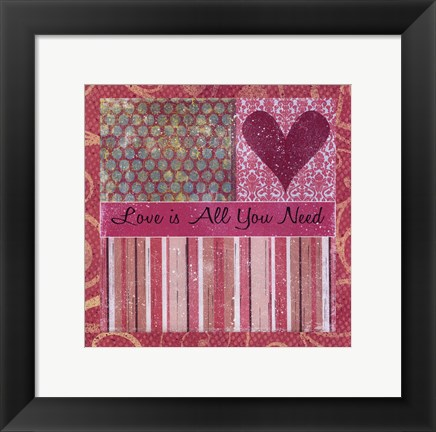 Framed Love Is All Print