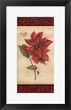 Framed Poinsettia Print