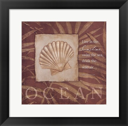 Framed Live in the Ocean Print