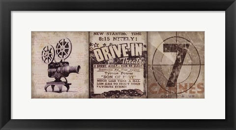 Framed Drive-In Print