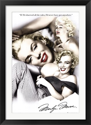 Framed Marilyn Monroe - rules Print