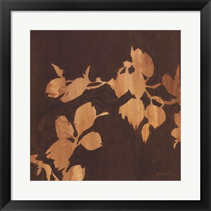 Framed Falling Leaves I Print