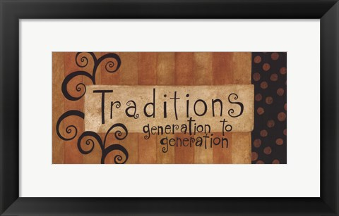Framed Traditions Print