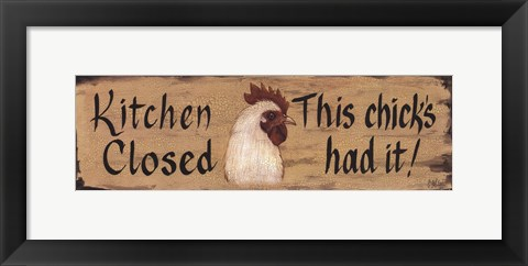 Framed Kitchen Closed Print