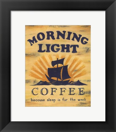 Framed Morning Light Coffee Print